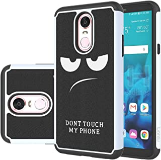 LG Stylo 4 Case, LG Q Stylus Case, LG Stylo 4 Plus Case, LEEGU [Shock Absorption] Dual Layer Heavy Duty Protective Silicone Plastic Cover Rugged Phone Cases for LG Stylo 4 - Don't Touch My Phone