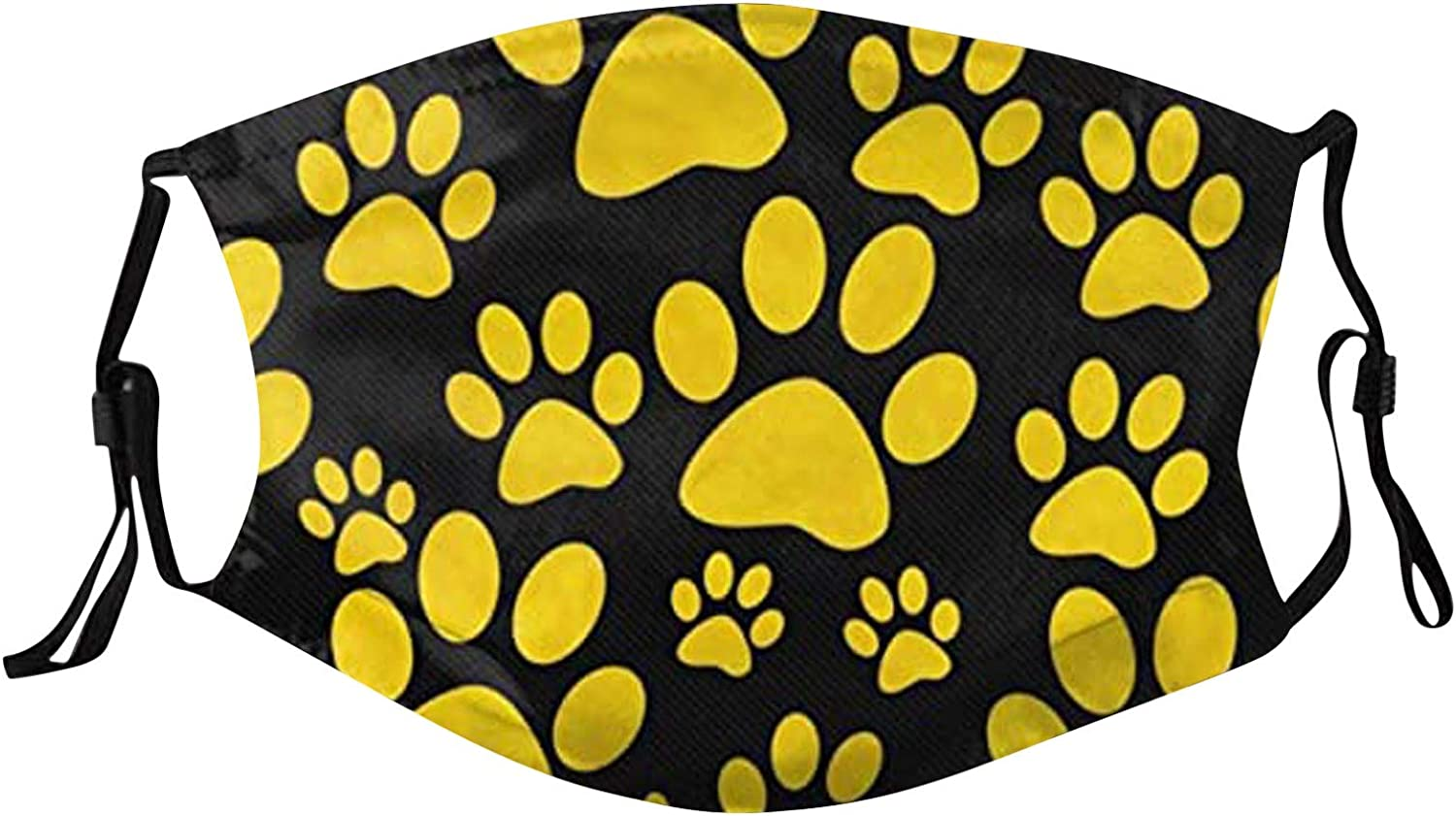 1PCS+2PCS Reusable Adults Face Covering Butterfly & Catclaw Printed Washable Dustproof Face Protective