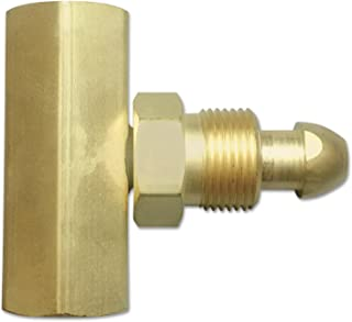 Western Enterprises T-92 Manifold Coupler Tees, Brass, Argon/Helium/Nitrogen, Male Connection, 0.5 Length