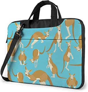 Laptop Shoulder Bag 13 Inch Black Animal Kangaroo Briefcase Protective Bag