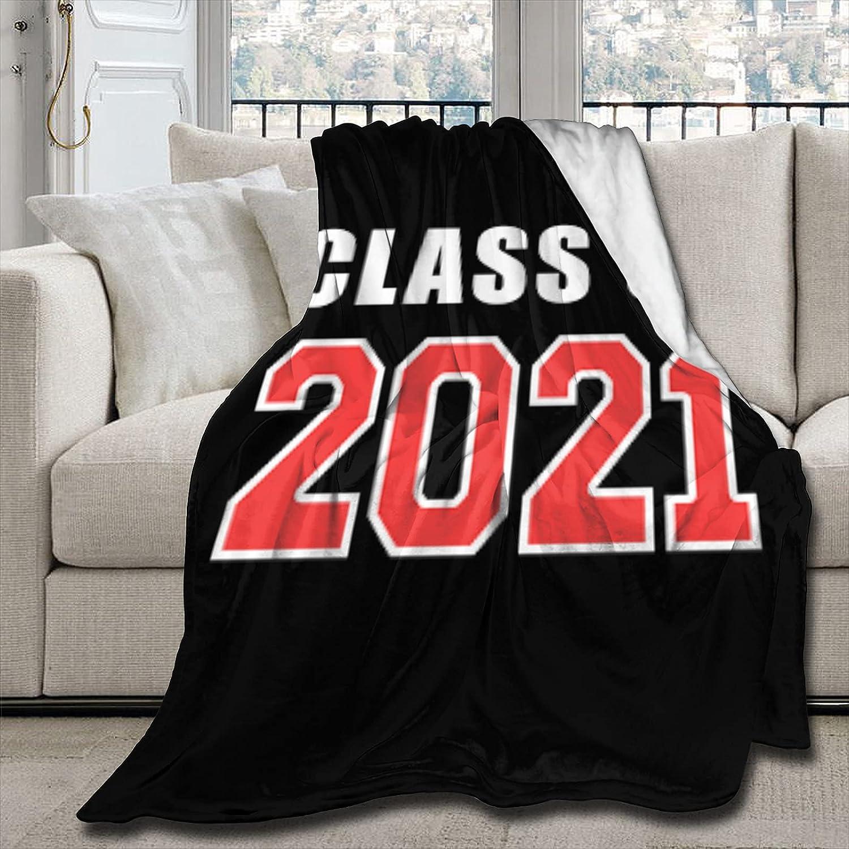 Angaja Max 80% OFF Milwaukee Mall Class of 2021 Graduation Senior Soft Fleece Blank Blanket