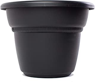 Bloem Milano Black Planter 24in is 23.75 inches in Diameter x 18 inches high