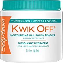 Sally Hansen Kwik Off Nail Color Remover with Vitamin E and Aloe, 5.1 Fluid Ounce
