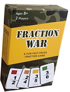 Fraction War Math Game - Fun Math Game to Learn, Compare and Simplify Fractions for 2nd Grade, 3rd Grade, 4th Grade, 5th G...