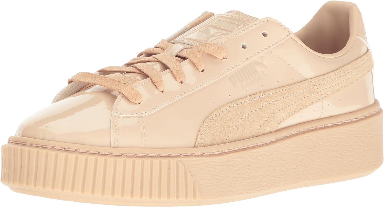 PUMA Women's Basket Platform Patent Sneakers