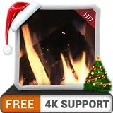 無料のロマンチックな暖炉の雰囲気HD-HDR 4Kテレビ、8Kテレビ、火のデバイスで、冬の涼しいクリスマス休暇を壁紙や調停と平和のテーマとしてお楽しみください