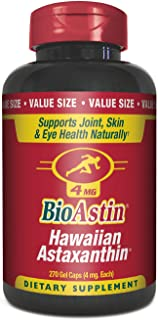 BioAstin Hawaiian Astaxanthin 4mg, 270 Count - Hawaiian GrownPremium Antioxidant - Supports Recovery from Exercise + Join...
