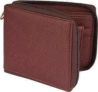 Designer Bugs Zipper || Beige-Colour Synthetic Leather Wallet || Unisex Mini Short Round Zipper Wallet (Brown)