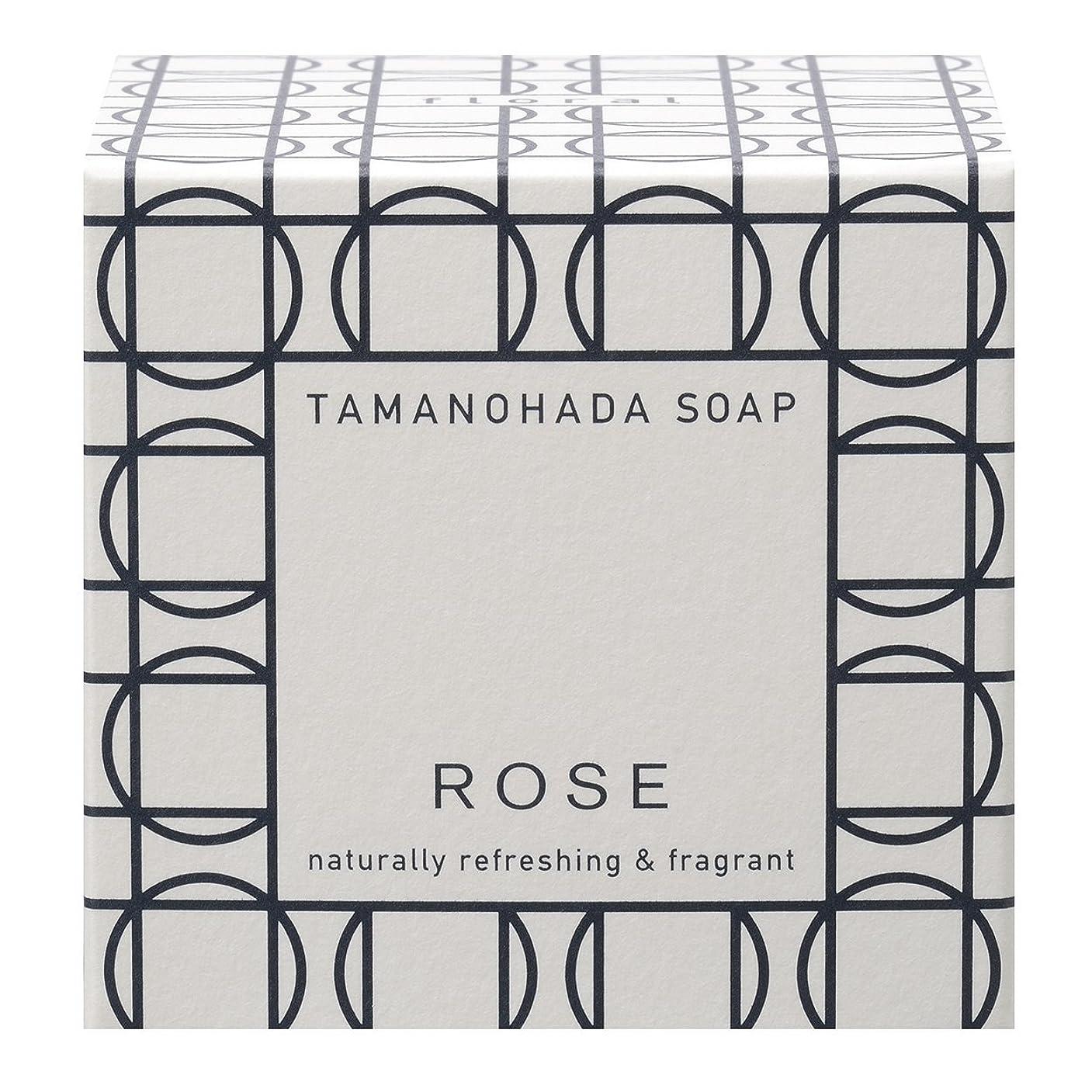 影響力のある鎮痛剤汚染タマノハダ ソープ 003 ローズ 125g