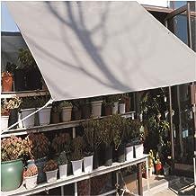 LIXIONG Sunblock schaduwdoek, rechthoek mesh polyethyleen zonnescherm zeil, 90% UV-bestendig net met doorvoertules voor tu...