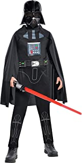 Star Wars Darth Vader Costume Classic for Boys, Includes a Jumpsuit, a Mask, a Cape, and More