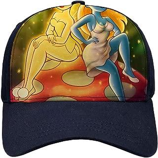 DISNEY COLLECTION Tinkerbell and Smurfette Baseball Hat Cap Women Men Cotton Cartoon Cute Outdoor Sun Summer Protective