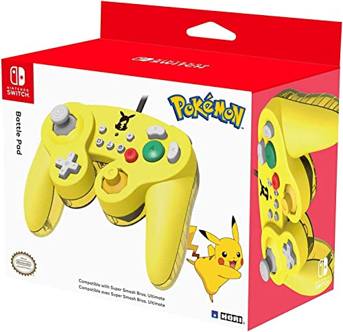 Nintendo Switch Battle Pad (Pikachu) GameCube-Style Controller by HORI - Officially Licensed By Nintendo