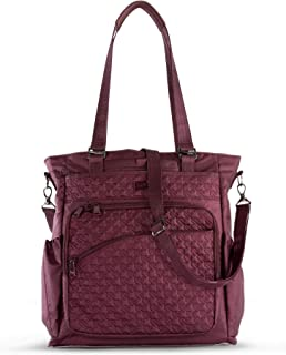 Lug Women's Ace 2 Convertible Travel Tote, Shimmer Wine, One Size