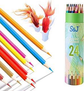 JUSCH 24 Pack Colored Pencils, Colored Pencils for Adult Coloring, Color Pencils for Kids, Color Pencil Set, Soft Core Col...