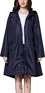MAGCOMSEN Women Rain Poncho with Pockets Protable Lightweight Waterproof Coat Long Rain Jackets