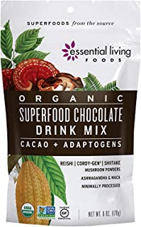 Superfood Chocolate Drink Mix - Essential Living Foods - 6oz Pouch