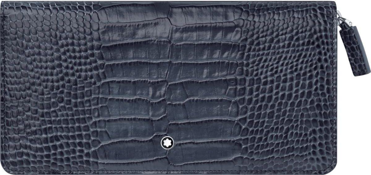 Montblanc Men's Coin Pouch, Blue (Indigo), 20 centimeters