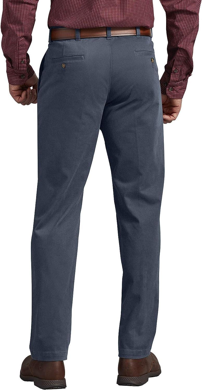 Dickies Performance Chino Flat Front Pant-Slim Taper Pantalon d'utilité Professionnelle Homme Bleu Airforce Rincé.