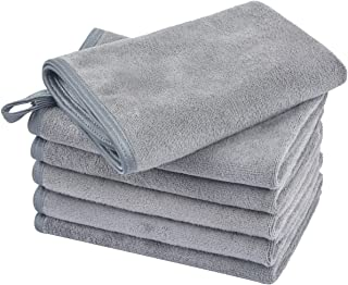KinHwa Makeup Remover Cloths Super Soft Face Cloths Reusable for Daily Use 12inch x 12inch 6 Pack Gray