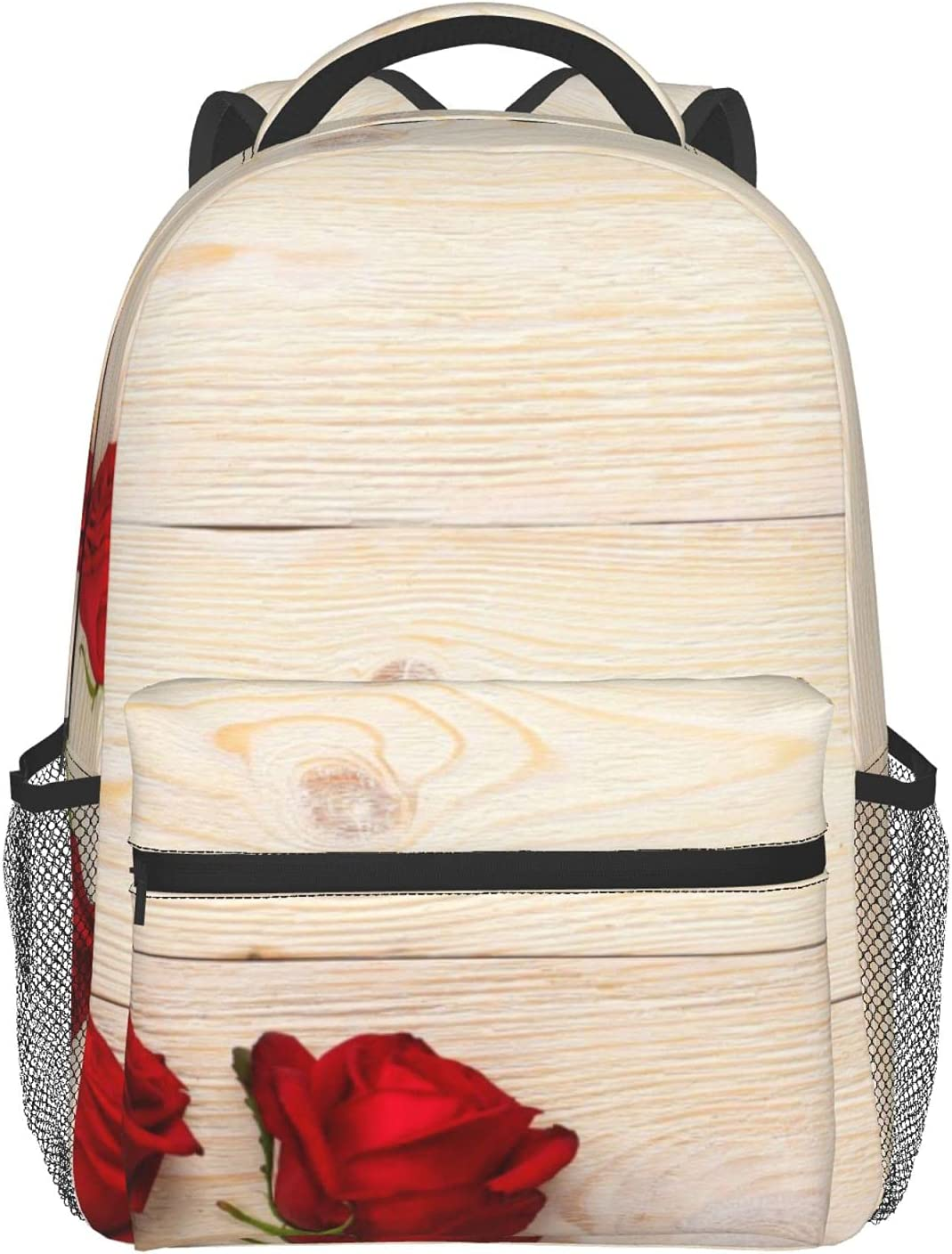 5 Red Roses Over White Rustic Adult Children'S Wood Planks Handh trend rank OFFicial mail order
