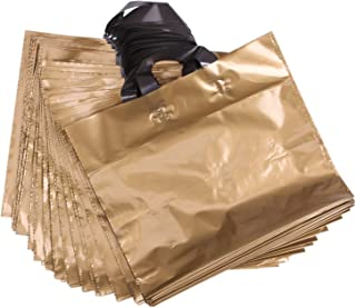gold plastic carrier bags