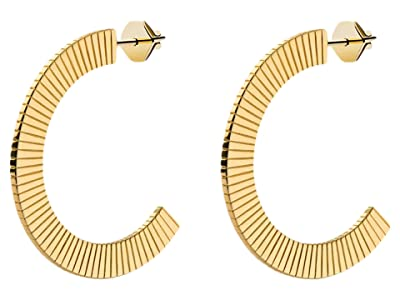 Miansai Celeste Hoops Earrings (Polished Gold) Earring