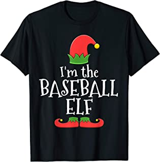 Baseball Elf T-Shirt for Matching Family Group