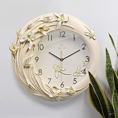 Wall Clocks Modern 3D Three-Dimensional Hand-Painted Clock Pendulum Clock Living Room Mute