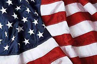 Homissor 3x5 American Flag Outdoor - Heavy Duty Nylon Embroidered Stars Sewn Stripes United States Flags 3x5 Feet - 210D Nylon Oxford Vivid Color USA Banner