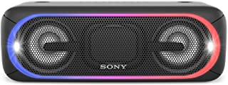 ソニー ワイヤレスポータブルスピーカー 重低音モデル SRS-XB40 : 防水/Bluetooth/専用スマホアプリ対応 ライティング機能搭載 ブラック SRS-XB40 B