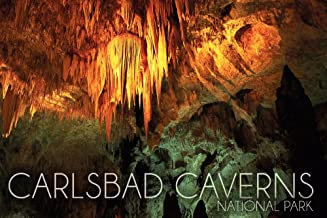 Carlsbad Caverns National Park, New Mexico - Stalactite Chandelier (12x18 Art Print, Wall Decor Travel Poster)