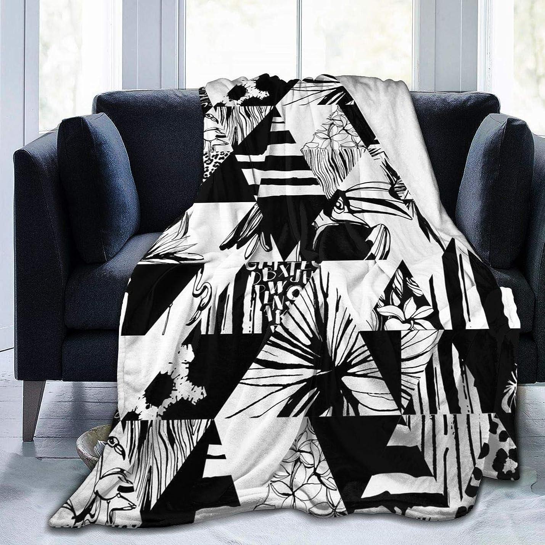 ピット徹底レコーダー熱帯鳥 手のひら 花 三角形 毛布 掛け毛布 ブランケット シングル 暖かい柔らかい ふわふわ フランネル 毛布 三つのサイズ