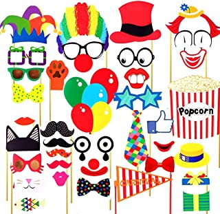 SIXQJZML 36 Pcs Attached Photo Booth Props ,Diy Kit For Party Favors for Wedding Birthday Carnival Bachelorette Acessories Party