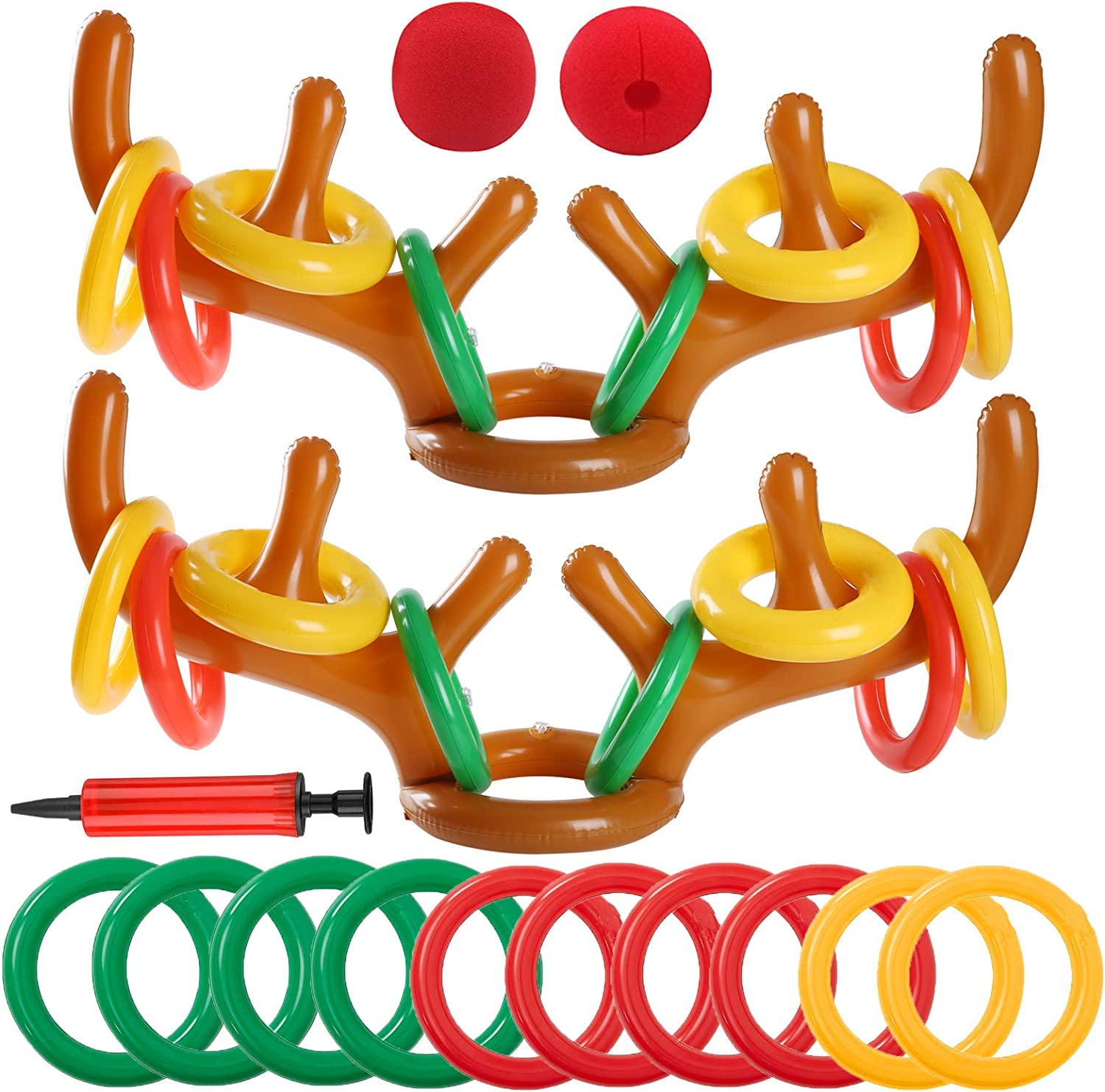 Uniqhia Christmas Party Games Inflatable Ring Cash special Max 43% OFF price T Antler Reindeer