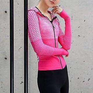 Sport Jacket, Andoer Women Full Zip Track Jackets Hooded Raglan Long Sleeve Thumb Holes Lightweight Slim Running Workout S...