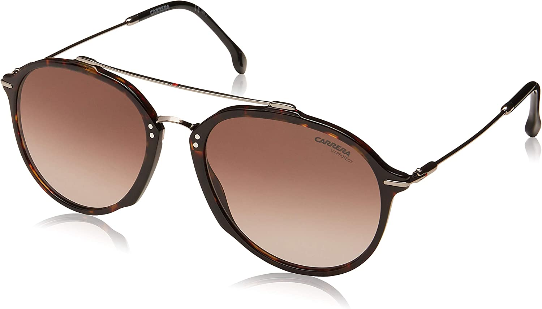 Carrera 171 S 086 HA Dark Havana Plastic Aviator Sunglasses Brown Gradient Lens