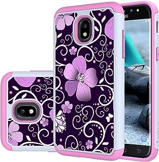 Galaxy J7 2018 case,J7 Aero/J7 Top/J7 Refine/J7 Eon/J7 Star/J7 Crown/J7 Aura case,Turphevm [Shock Absorption] Dual Layer Heavy Duty Protective Rugged Case for Samsung Galaxy J7 2018(Pink Violet)