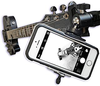 Guitar Ukulele Smartphone Mount Holder for Cell Phones and Gopro Action Cameras