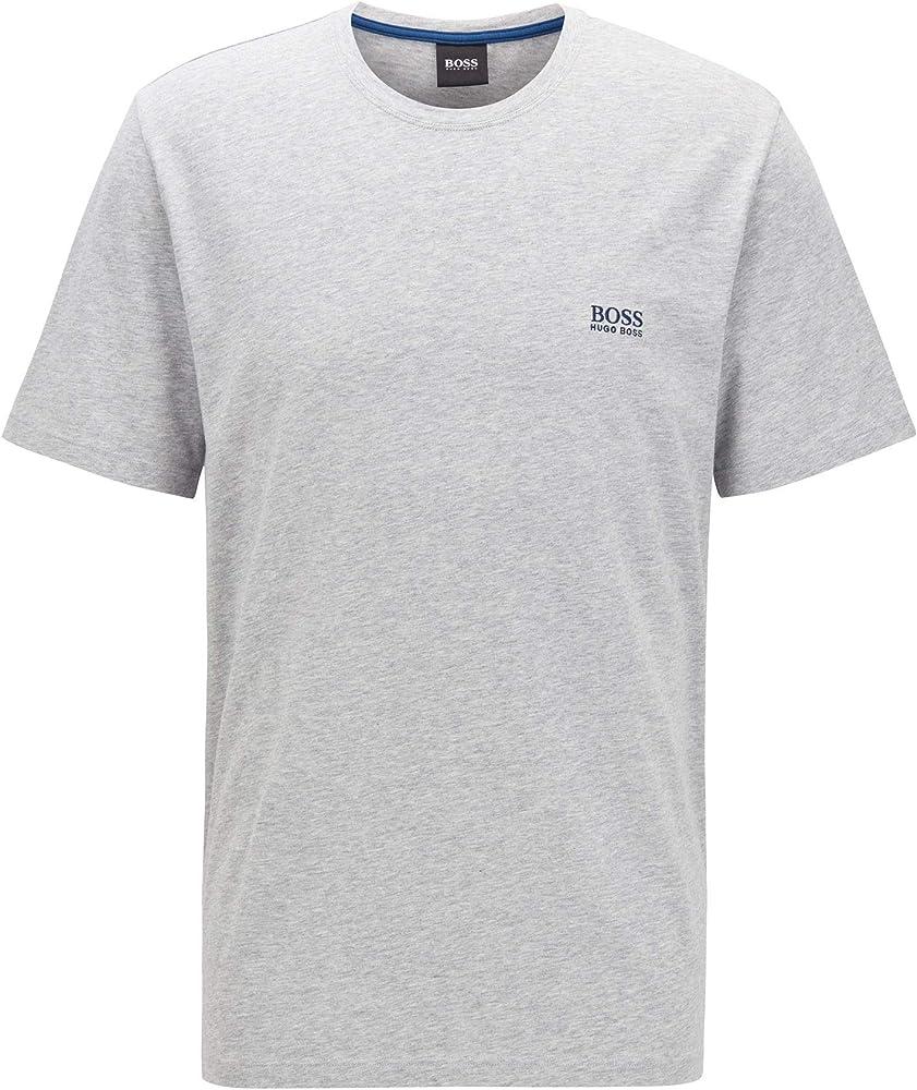 Hugo boss mix&match t-shirt, maglietta per uomo a maniche corte, 95% cotone, 5% elastan, grigia 50381904D
