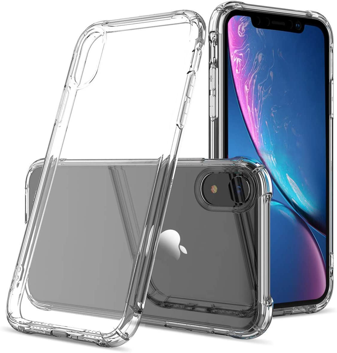GREATRULY Clear Phone Case for iPhone XR 6.1 Inch (2018 Release),Transparent Slim Soft TPU Bumper Silicone Cover Shell,Cystal Clear