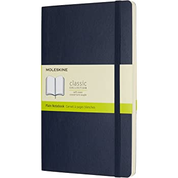 モレスキン ノート クラシック ノートブック ソフトカバー プレーン (無地) ラージサイズ サファイアブルー QP618B20