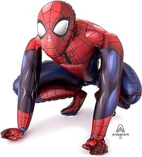 "Anagram Amscan AirWalker ""Spider-Man"" Foil Balloon, Red, 91 x 91 cm, A3-6324"