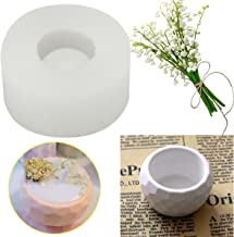 HAPYLY 3D Handmade Silicone Candle Soap Bottle Mold Succulent Planter Flower Pot Silicone Mold DIY Ashtray Candle Holder M...
