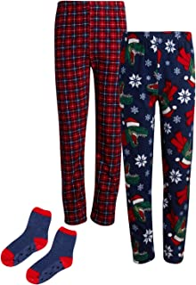Phorecys Kids Boys Pajama Bottoms Trousers Knit Comfy Sleepwear PJ Lounge Pants Age of 2-14