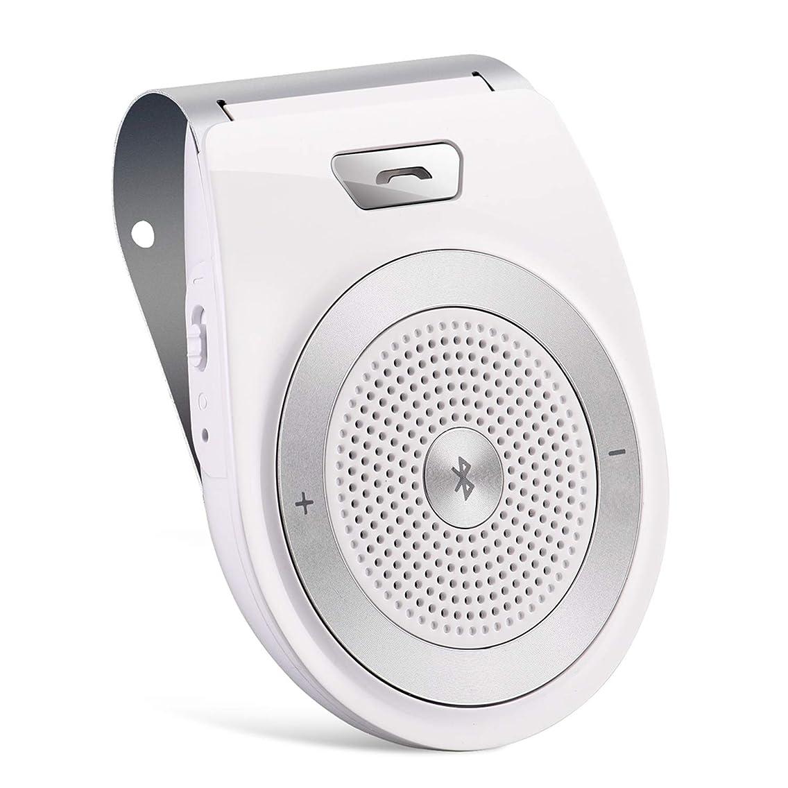 Wireless HandsFree Car Speakerphone,TIANSHILI Visor Clip Bluetooth Speaker,Auto On Off,Dual Link Connectivity with Siri & Google Assistant