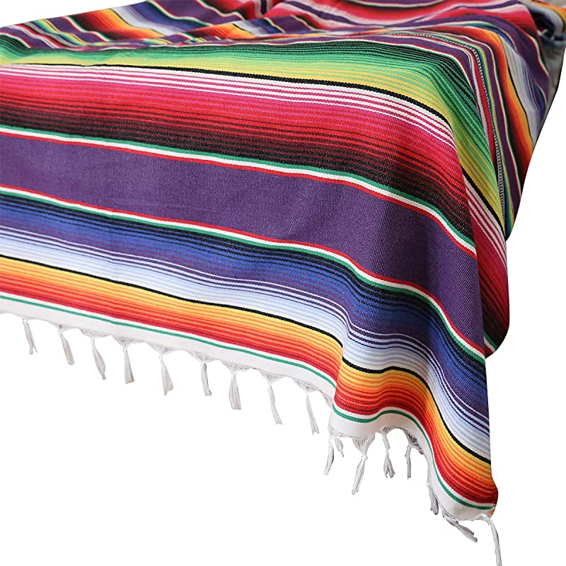 59 X 84 In Mexican Tablecloth For Mexican Party Wedding Decorations Mexican Saltillo Serape Blanket Bed Blanket Outdoor Table Cover Table Cloth Tapestry Blanket Picnic Mat