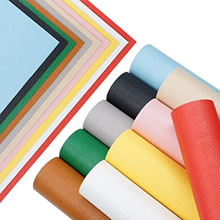N2-102 Faux Leather Vinyl Fabric Sheet UV Light Reactive Synthetic Leather Sheets