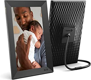 Nixplay 13.3 Inch Smart Photo Frame W13D Black - Wall-Mountable WiFi Frame with 1920x1080 Full HD Display, Motion Sensor and 10GB Online Storage, Display and Share Photos via Nixplay Mobile App