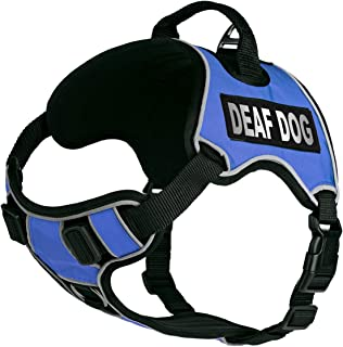 Dogline Quest No-Pull Dog Harness with Deaf Dog Reflective Removable Patches Reflective Soft Comfortable Dog Vest with Qui...